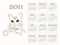 Calendar design 2011 Royalty Free Stock Image