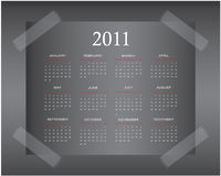 Calendar Design 2011. Calendar Design for your business - 2011 Stock Image