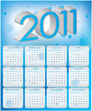 Calendar design 2011. For your business Royalty Free Stock Photos
