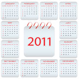 Calendar design - 2011. Calendar design 2011 for your business Royalty Free Stock Photo