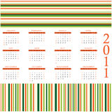 Calendar design 2011. Colored calendar design for 2011 Royalty Free Stock Image
