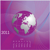 Calendar design 2011. For your website Royalty Free Stock Photography