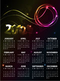 Calendar Design 2012. With vibrant colors royalty free illustration