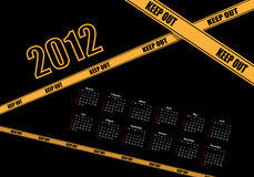 Calendar Design 2012. Keep out stock illustration