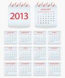 Calendar design - 2013. For your office vector illustration