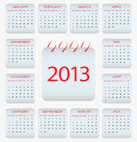 Calendar design - 2013. For your office Royalty Free Stock Photo