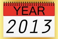 Calendar design for 2013. List Calendar design for 2013 Stock Images