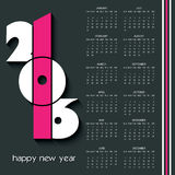 2016 calendar design with dark background Stock Images