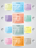 2014 calendar design with frames Stock Images