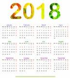 Calendar Design 2018. 12 months Calendar Design 2018 stock illustration