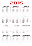 Calendar 2015 Stock Photography