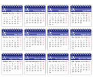 Calendar 2015. Design of a new calendar 2015 in english Stock Illustration