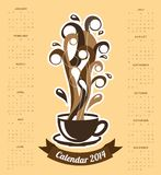 Calendar design. Over cream   background  vector illustration Stock Photography
