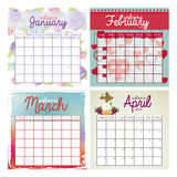 Calendar design Royalty Free Stock Images