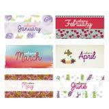 Calendar design Royalty Free Stock Photo
