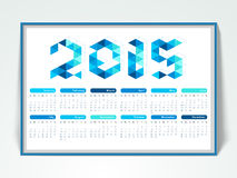 2015 calendar design. 2015 calendar design with stylish text Royalty Free Stock Photography
