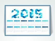 2015 calendar design. Royalty Free Stock Photography