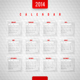 Calendar of 2014 Royalty Free Stock Photography