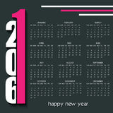 2016 Calendar design template. 2016 Creative Calendar design template Royalty Free Stock Images