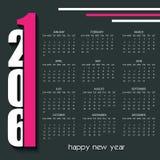 2016 Calendar design template Royalty Free Stock Images