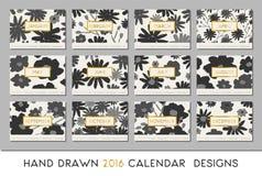 2016 Calendar Design Template Stock Images