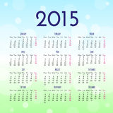 Calendar 2015 design template Stock Photos