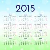 Calendar 2015 design template. Calendar 2015 vector design template Stock Photos