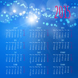 Calendar 2015 design template Royalty Free Stock Image