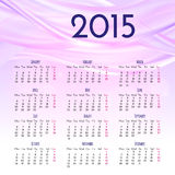 Calendar 2015 design template. Calendar 2015 vector design template Stock Photos