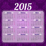 Calendar 2015 design template Stock Photo