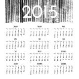Calendar 2015 design template Royalty Free Stock Photos