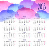 Calendar 2015 design template. Calendar 2015 vector design template Stock Image