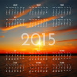 Calendar 2015 design template Stock Images