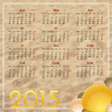 Calendar 2015 design template Stock Photography