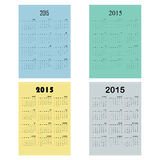 Calendar 2015 design template week starts Sunday. Vector illustration Stock Photography