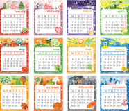 Calendar 2016 design Stock Photography