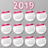Calendar design. Vector illustration. 2018 year calendar design. Vector illustration Eps 10 royalty free illustration