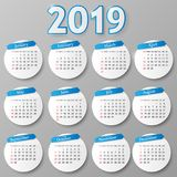 Calendar design. Vector illustration. 2018 year calendar design. Vector illustration Eps 10 stock illustration