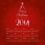 2014 Calendar Design. Vectors can be used in the work schedule work Stock Photos
