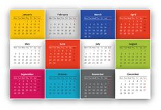 Calendar. Design for the year 2015 Royalty Free Stock Photos