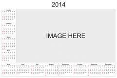 Calendar 2014. 2014 calendar designed by computer using design software, with white background Vector Illustration