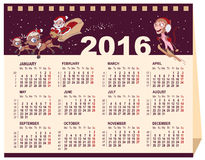 2016 calendar. Desk calendar. Illustration in vector format Royalty Free Stock Photo