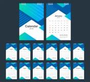 2018 Calendar. Desk Calendar modern design template. Week starts Royalty Free Stock Image