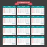 2018 Calendar. Desk Calendar modern design template. Stock Photo