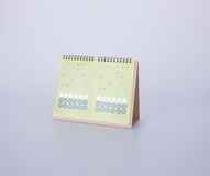 calendar or desk calendar with sticker on background. Royalty Free Stock Image