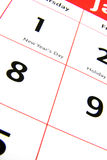 Calendar detail 3 Royalty Free Stock Photography