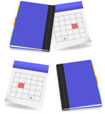 Calendar diary office set icon Royalty Free Stock Photo