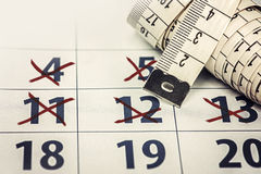 The Calendar Diet Stock Photography