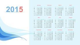 Calendar. For 2015, editable vector illustration. Eps 10 Stock Photos