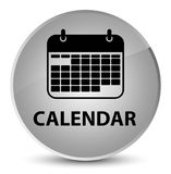 Calendar elegant white round button Stock Photo
